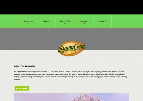 SunnyGem - Simply Almonds website